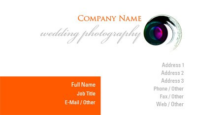 Camera Lens Swirl Business Card Template